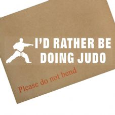 1 x I'd Rather be Doing Judo-Car Window Sticker-Sign-Sports,Hobby,Tournament,Competition